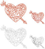 Love maze Stock Images