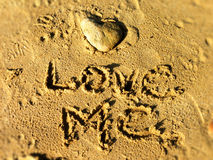 Love me on the beach Stock Photography
