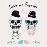 Love Me Forever Funny Vector Illustration Stock Image