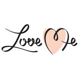 Love me hand lettering. Editable and scalable vector Royalty Free Stock Images
