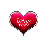 Love me happy valentine's day card  heart. Stock Image