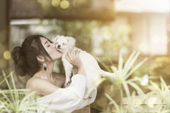 Love me love my dog Royalty Free Stock Photography