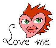 Love me message Stock Image