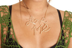 Love me necklace Royalty Free Stock Photos
