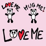 Love me panda Stock Photos