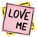 Love me reminder note Stock Image