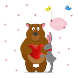 LOVE ME,romantic card Stock Image