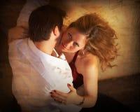Love me tender 2. A romantic couple portrait sepia Stock Photography