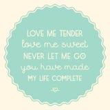 love me tender Zdjęcia Stock