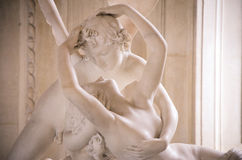 Love me tender. Psyche revived by Cupid's Kiss by Antonio Canova Stock Photography