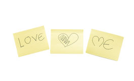 Love and me word Royalty Free Stock Images