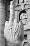 Love, medium finger portrait by Cattelan Stock Image