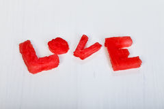 Love for the melon Royalty Free Stock Image