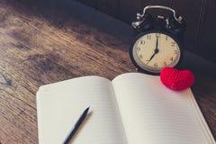 Love memory, Vintage clock time memories of Loving story. Royalty Free Stock Photo