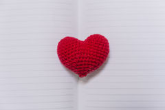 Love memory. Love memory, Vintage Memories of Loving story empty paper notebook on the old wood  table Stock Photography