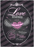 Love menu chalk. Stock Photography
