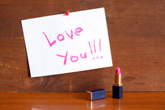 Love Message Royalty Free Stock Images