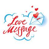 Love Message. Confession paper envelope red heart Stock Photography