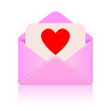 Love message Royalty Free Stock Photo