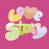 Love story banner Royalty Free Stock Images