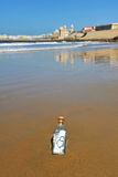 Love message in a bottle, Cadiz, Andalusia, Spain Stock Photo