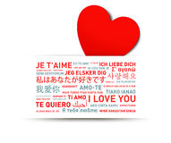 Love message card from the world Stock Images