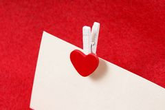 Love message clip Stock Photo