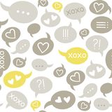 Love message colorful seamless pattern Stock Photo