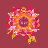 Love message gift card. illustration Royalty Free Stock Photography