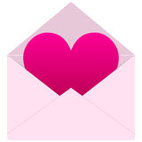 Love Message with Heart Royalty Free Stock Photos