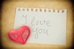 Love message and heart Royalty Free Stock Photos