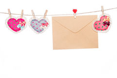 Love message letter, valentine's day mother's day  heart  shape Royalty Free Stock Image