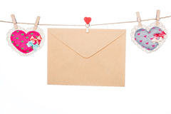 Love message letter, valentine's day mother's day  heart  shape Stock Photography