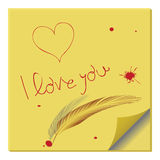 Love message on paper note Royalty Free Stock Photos