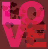 Love message  poster Royalty Free Stock Image