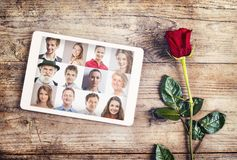 Love message and a rose Stock Image
