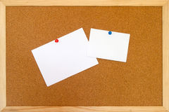 I love you. Love message on a sheet on the bulletin board Royalty Free Stock Image