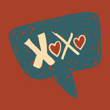 Love message in speech bubble Royalty Free Stock Image