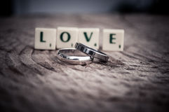 Love message in tiles Royalty Free Stock Photography