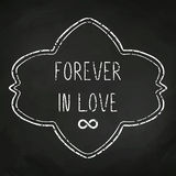 Love message written in chalk Stock Images
