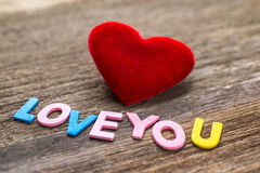 Love message written by colour paper Stock Image