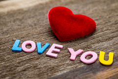 Love message written by colour paper Stock Images