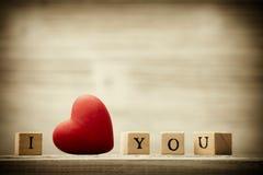 Love message. Love message written in wooden blocks Royalty Free Stock Photo