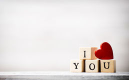 Love. Love message written in wooden blocks Stock Photo