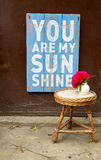 Love Message You Are My Sunshine Royalty Free Stock Images