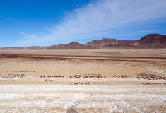 Love messages in the desert Stock Images