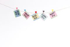 Love messages Royalty Free Stock Images