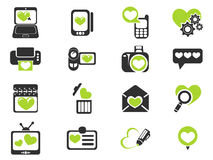 Love messages icon set Royalty Free Stock Photography