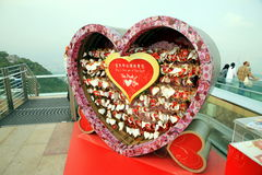 Love Messages on Victoria Peak Royalty Free Stock Photography