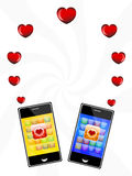 Love messages on your mobile phone Royalty Free Stock Image